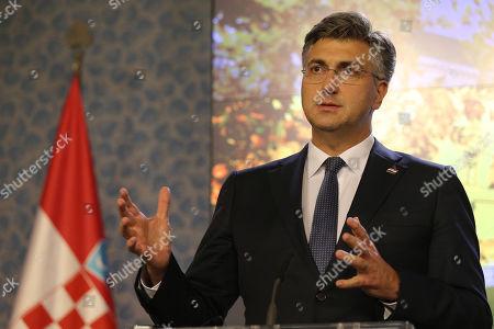 Editorial image of Croatian Prime Minister Andrej Plenkovic visits Prague, Czech Republic - 04 Nov 2019