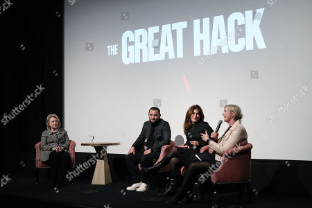 """Editorial picture of Secretary Hillary Rodham Clinton Moderates a Post-Screening Discussion for NETFLIX's """"The Great Hack"""", New York, USA - 01 Nov 2019"""