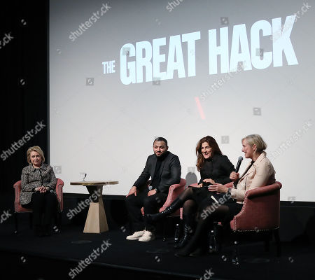 "Editorial image of Secretary Hillary Rodham Clinton Moderates a Post-Screening Discussion for NETFLIX's ""The Great Hack"", New York, USA - 01 Nov 2019"
