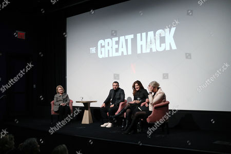 """Editorial photo of Secretary Hillary Rodham Clinton Moderates a Post-Screening Discussion for NETFLIX's """"The Great Hack"""", New York, USA - 01 Nov 2019"""
