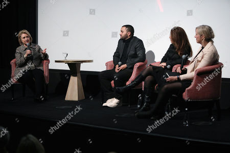 "Editorial photo of Secretary Hillary Rodham Clinton Moderates a Post-Screening Discussion for NETFLIX's ""The Great Hack"", New York, USA - 01 Nov 2019"