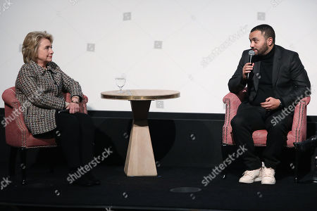 "Editorial picture of Secretary Hillary Rodham Clinton Moderates a Post-Screening Discussion for NETFLIX's ""The Great Hack"", New York, USA - 01 Nov 2019"
