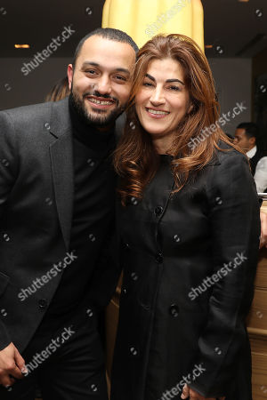 Stock Image of Karim Amer and Jehane Noujaim (Directors)