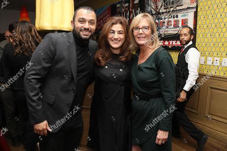 Stock Photo of Karim Amer, Jehane Noujaim (Directors) and Chris Hegedus