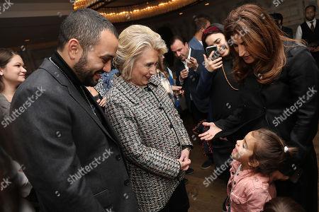 Jehane Noujaim, Karim Amer (Directors) and Secretary Hillary Clinton