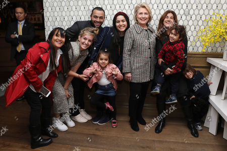 Jehane Noujaim, Karim Amer (Directors) with family and Secretary Hillary Clinton
