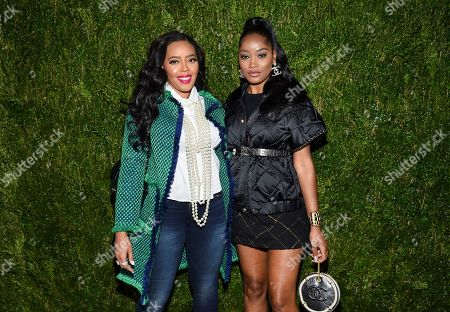 Angela Simmons, Keke Palmer. Actors Angela Simmons, left, and Keke Palmer attend the Through Her Lens: Tribeca Chanel Women's Filmmaker Program Luncheon at Locanda Verde, in New York