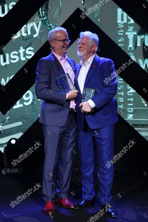 Richard Griffiths and Harry Magee accept the MITS Award