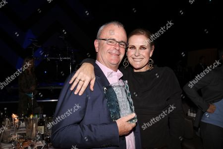 Richard Griffiths with Alison Moyet during the MITS Award