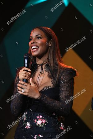 Hosts Rochelle Humes during the MITS Award