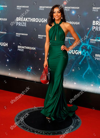 Miss USA 2017 Kara McCullough (C) on the red carpet before the eighth annual Breakthrough Prize Awards held at the NASA Ames Research Center in Mountain View, California, USA, 03 November 2019 (Issued 06 November 2019). The Breakthrough Prize is awarded annually, and recognizes the world's top scientists. Considered the world's most generous science prize, each Breakthrough Prize is three million dollars and presented in the fields of Life Sciences (up to four per year), Fundamental Physics (one per year) and Mathematics (one per year).