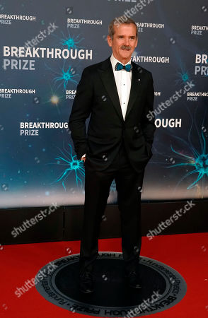 Stock Picture of Astronaut Chris Hadfield walks the red carpet before the eighth annual Breakthrough Prize Awards held at the NASA Ames Research Center in Mountain View, California, USA, 03 November 2019 (Issued 06 November 2019). The Breakthrough Prize is awarded annually, and recognizes the world's top scientists. Considered the world's most generous science prize, each Breakthrough Prize is three million dollars and presented in the fields of Life Sciences (up to four per year), Fundamental Physics (one per year) and Mathematics (one per year).