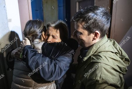 Journalist Nazli Ilicak hugs her family after she was released from the Bakirkoy Prison in Istanbul, Turkey, 04 November 2019. A Turkish court ordered journalist Ahmet Altan and journalist Nazli Ilicak to be released.