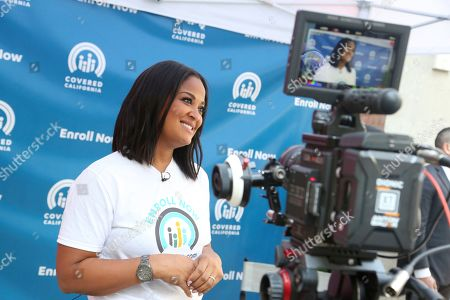 Stock Photo of Laila Ali, world-class athlete, spreads the word about Open Enrollment and the new California initiatives that lower health care costs for millions of Californians at the Covered California Kickoff Open Enrollment event at The Bloc, in Downtown Los Angeles, Calif