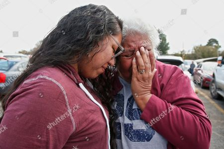Tess Harjo, Sally Taylor. Tess Harjo, left, embraces her grandmother, Sally Taylor, right, after being released from the Eddie Warrior Correctional Center in Taft, Okla. More than 450 inmates walked out the doors of prisons across Oklahoma on Monday as part of what state officials say is the largest single-day mass commutation in U.S. history