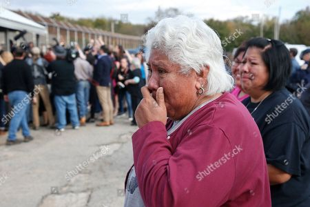 Sarah Taylor, Sally Taylor. Sally Taylor, left, and Sarah Taylor, right, wait for their granddaughter and niece, Tess Harjo, to walk out of Eddie Warrior Correctional Center in Taft, Okla. More than 450 inmates walked out the doors of prisons across Oklahoma on Monday as part of what state officials say is the largest single-day mass commutation in U.S. history