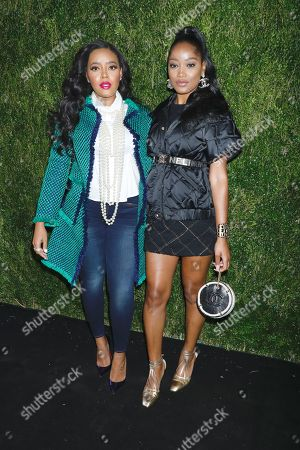 Stock Picture of Angela Simmons and Keke Palmer