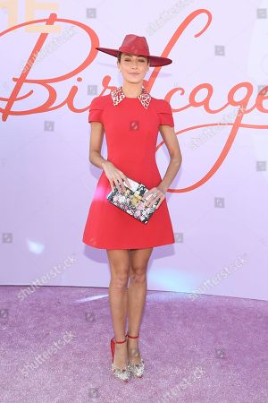 Isabella Giovinazzo poses for photos in the Birdcage on Melbourne Cup Day at Flemington Racecourse in Melbourne, Australia, 05 November 2019.