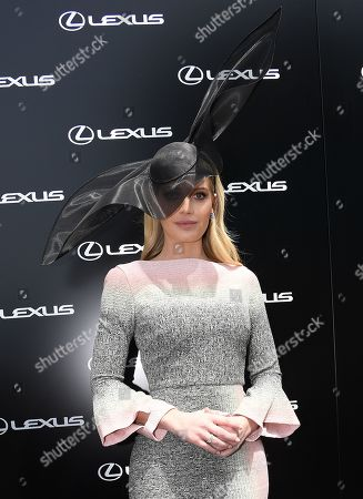 Lady Kitty Spencer poses for photos at the Birdcage on Melbourne Cup Day at Flemington Racecourse in Melbourne, Australia, 05 November 2019.