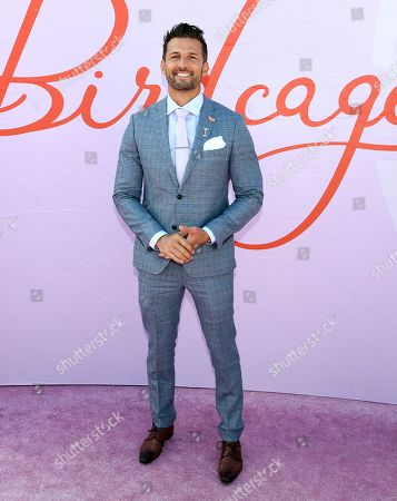 Stock Image of Australian actor Tim Robards poses during Melbourne Cup Day at Flemington Racecourse in Melbourne, Australia, 05 November 2019.