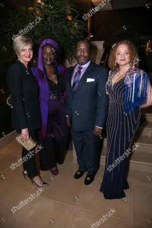 Marianne Elliott (Co-Director), Sharon D Clarke (Linda Loman), Wendell Pierce (Willy Loman) and Miranda Cromwell (Co-Director)