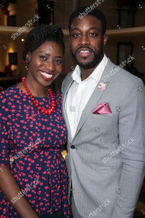 Carole Stennett (Miss Forsythe) and Emmanuel Ogunjinmi (Understudy Happy/Biff)