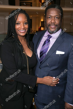 Erika Woods and Wendell Pierce (Willy Loman)