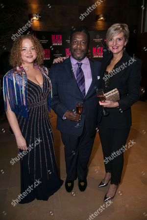 Miranda Cromwell (Co-Director), Wendell Pierce (Willy Loman) and Marianne Elliott (Co-Director)