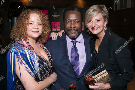 Stock Picture of Miranda Cromwell (Co-Director), Wendell Pierce (Willy Loman) and Marianne Elliott (Co-Director)