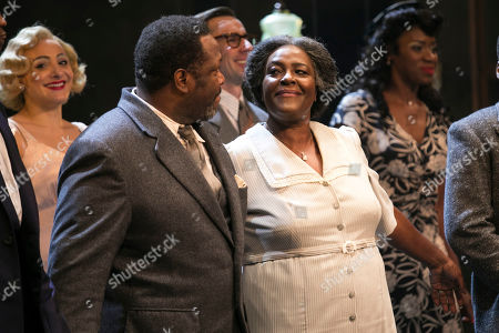 Wendell Pierce (Willy Loman) and Sharon D Clarke (Linda Loman) during the curtain call