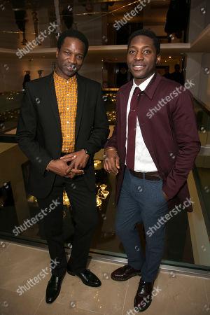 Stock Image of Sope Dirisu (Biff) and Natey Jones (Happy)