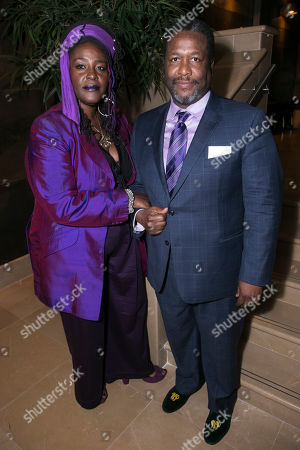 Sharon D Clarke (Linda Loman) and Wendell Pierce (Willy Loman)