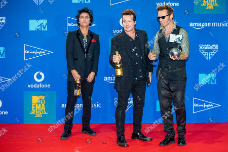 Green Day - Billie Joe Armstrong, Tre Cool and Mike Dirnt