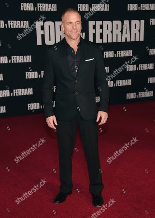 """Sean Carrigan arrives at a special screening of """"Ford v Ferrari"""", at the TCL Chinese Theatre in Los Angeles"""