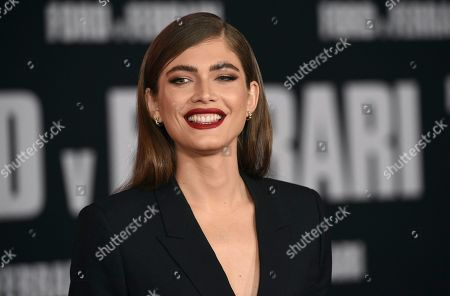 """Valentina Sampaio arrives at a special screening of """"Ford v Ferrari"""", at the TCL Chinese Theatre in Los Angeles"""