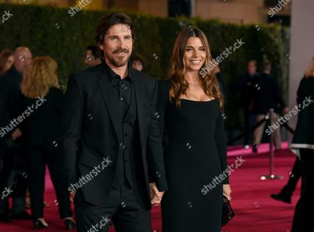 "Christian Bale, Sibi Blazic. Christian Bale, left, and Sibi Blazic arrive at a special screening of ""Ford v Ferrari"", at the TCL Chinese Theatre in Los Angeles"