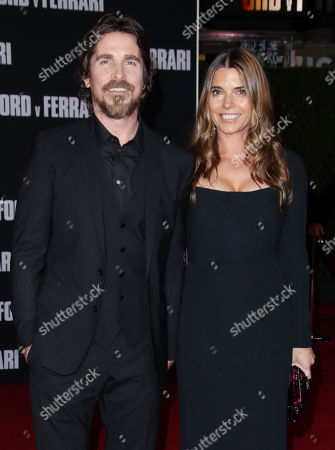Stock Picture of Christian Bale and wife Sibi Blazic