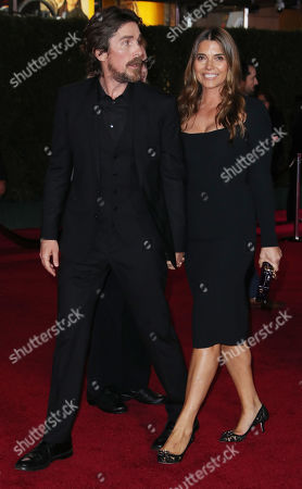 Stock Photo of Christian Bale and wife Sibi Blazic
