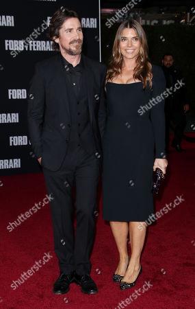 Stock Photo of Christian Bale and wife Sibi Blazic