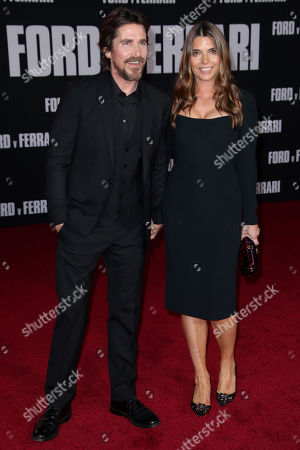 Stock Image of Christian Bale and wife Sibi Blazic