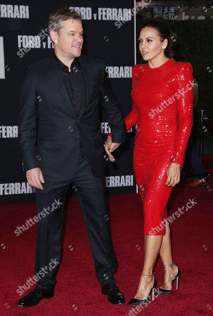 Stock Photo of Matt Damon and wife Luciana Damon