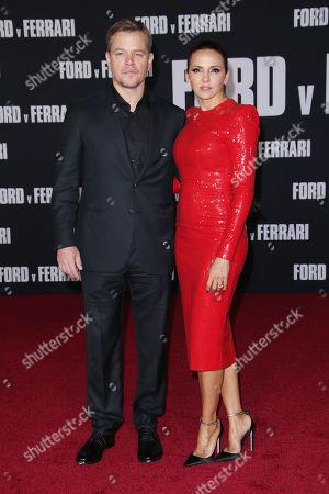 Stock Image of Matt Damon and wife Luciana Damon
