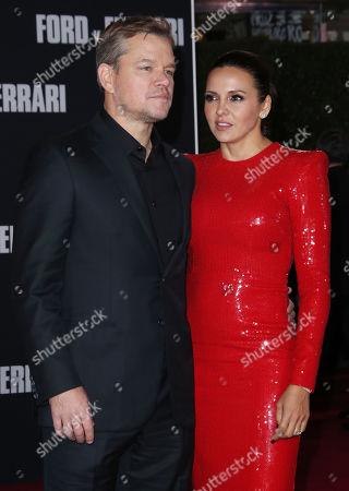 Stock Photo of Matt Damon and wife Luciana Damon