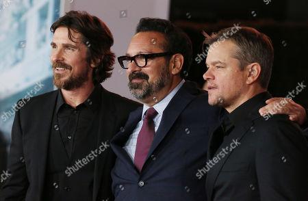 Matt Damon, James Mangold and Christian Bale