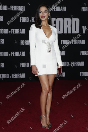 Moran Atias poses on the red carpet prior to the premiere of the Ford v Ferrari movie at TLC Chinese Theater in Hollywood, California, USA, 04 November 2019. The movie is to be released in US theaters on 15 November 2019.