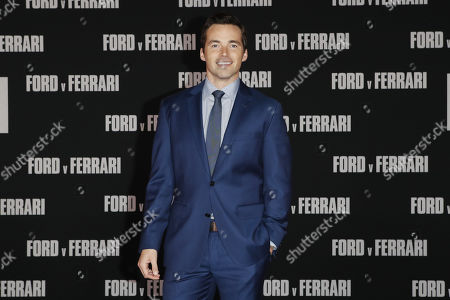 Ian Harding poses on the red carpet prior to the premiere of the Ford v Ferrari movie at TLC Chinese Theater in Hollywood, California, USA, 04 November 2019. The movie is to be released in US theaters on 15 November 2019.