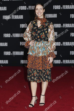 Carla Baratta poses on the red carpet prior to the premiere of the Ford v Ferrari movie at TLC Chinese Theater in Hollywood, California, USA, 04 November 2019. The movie is to be released in US theaters on 15 November 2019.