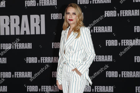 Bethany Joy Lenz poses on the red carpet prior to the premiere of the Ford v Ferrari movie at TLC Chinese Theater in Hollywood, California, USA, 04 November 2019. The movie is to be released in US theaters on 15 November 2019.