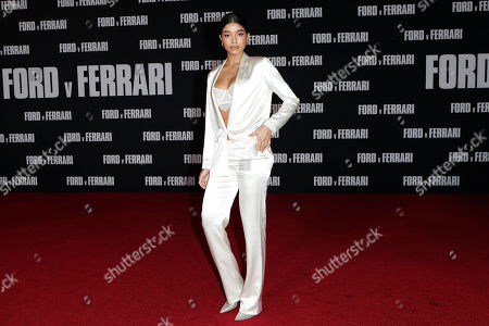 Yovanna Ventura poses on the red carpet prior to the premiere of the Ford v Ferrari movie at TLC Chinese Theater in Hollywood, California, USA, 04 November 2019. The movie is to be released in US theaters on 15 November 2019.