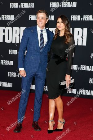 Stock Photo of US talent agent Patrick Whitesell (L) and Australian-Chilean model Pia Miller (R) pose on the red carpet prior to the premiere of the Ford v Ferrari movie at TLC Chinese Theater in Hollywood, California, USA, 04 November 2019. The movie is to be released in US theaters on 15 November 2019.